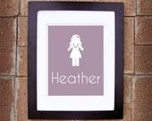 Paper Dolls - Personalized Name Print (Girl Version) - 8x10 Printable Art