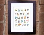 Animal Alphabet Print - 8x10 Nursery Printable - Instant Download