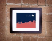 Modern London Skyline Print - Printable 8x10