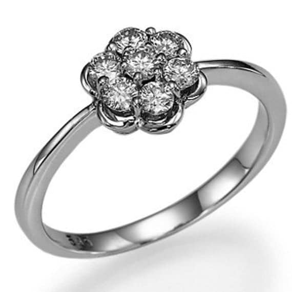 wedding rings with engraved flower shaped diamond wedding ring. Black Bedroom Furniture Sets. Home Design Ideas