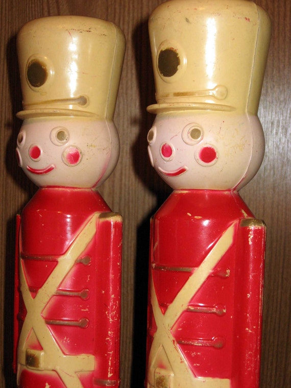 Vintage Plastic Toy Soldier Decorations By Squaresvilleusa