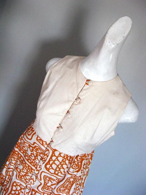 Vintage 1970s BOHO Chic Hawaiian  Maxi Dress