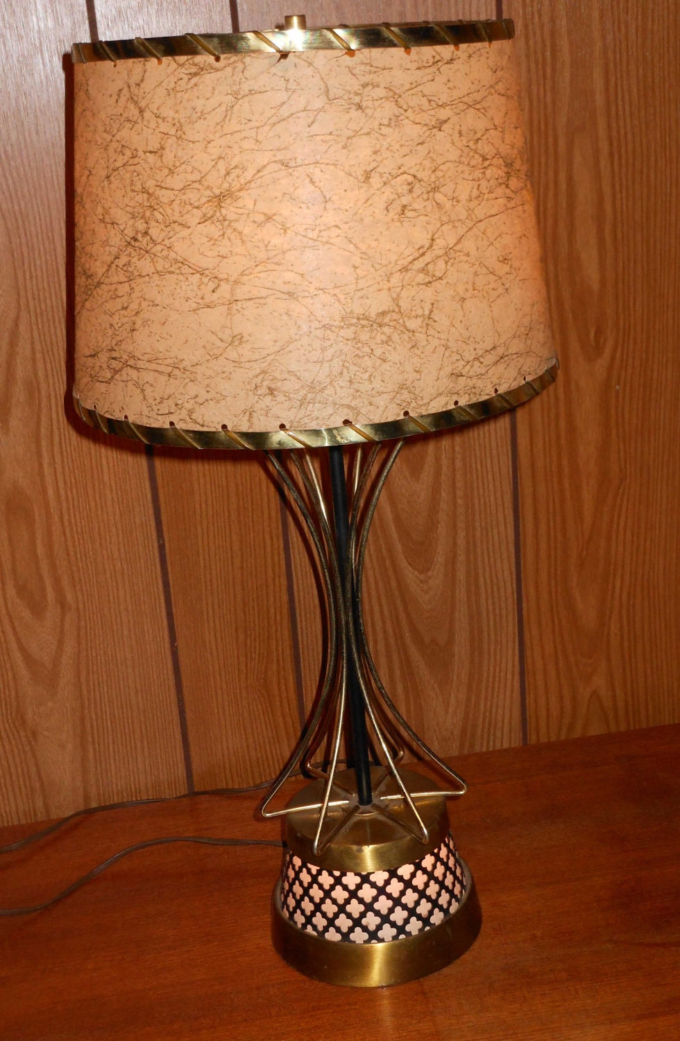 Vintage mid century modern eames atomic table lamp light for Eames lampe