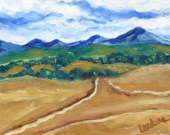 Mountain landscape painting, Original oil painting on wrapped canvas, Mountain Landscape
