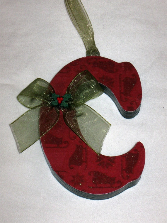 christmas ornament letter c by tkhubert on etsy With letter c christmas ornaments