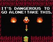 """Legend of Zelda """"It's Dangerous"""" cross stitch chart in PDF format"""