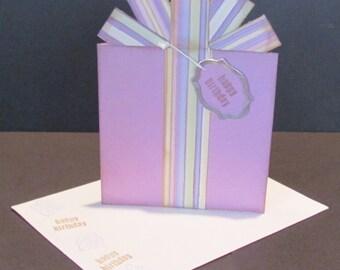 Birthday Present Card - Gift Card / Money Holder - Amethyst purple