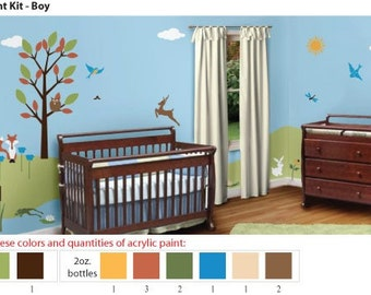 Acrylic Stencil Paints for Painting Forest Kids Room