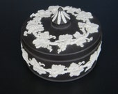 Wedgewood Candy Dish -  Black and White Jasperware - Made in England