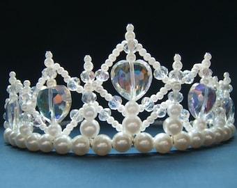 Crystal Heart Childs Princess Tiara