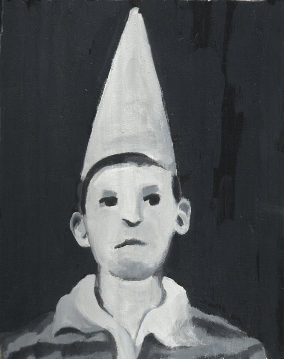 Painting of a Dunce Boy