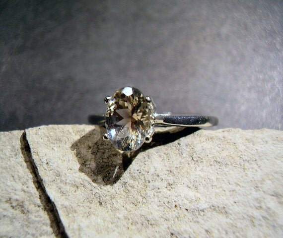 HOLD for Cynthia - Champagne Ponderosa Oregon Sunstone Ring