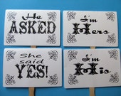 He Asked She Said Yes Double Sided Photo Props  wp