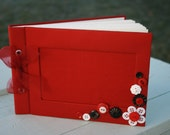 SALE** Vintage Button Embellished Photo Album