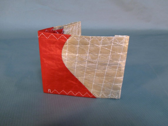 Recycled Sailcloth Wallet - kevlar with red number