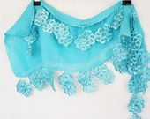 SWEETY Cotton Scarf With Lace, Fashion, Floral Lace,  Eco-Friendly
