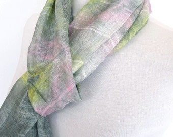 Colorful Cotton Scarf / Loop, Gift, Women, Spring Sale