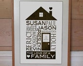11 x 14 personalized custom family name home photograph anniversary