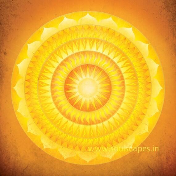 Illumination Mandala Giclee Art Print