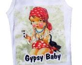 Tee shirt, tank, cap sleeve, long sleeve childrens tshirt, tank or onesie Gypsy Baby...