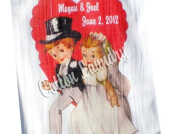 Flour sack kitchen towel Wedding.