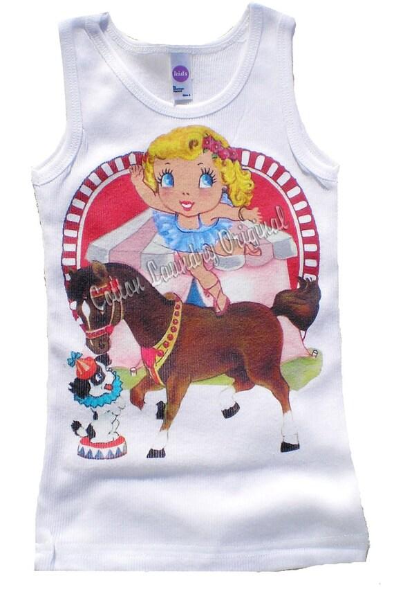 Vintage Childrens tshirt... Circus Act