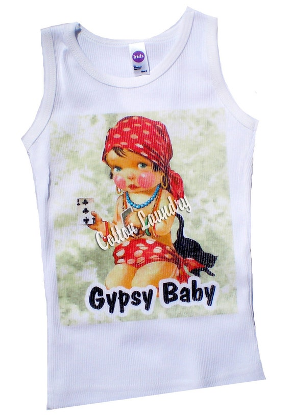 Tee shirt, tank, cap sleeve, long sleeve childrens tshirt, tank or onesie Gypsy Baby...