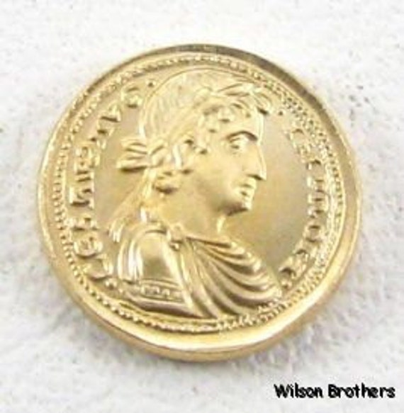 14k Yellow Gold Coin Collectible Brindisi - Augustale Replica