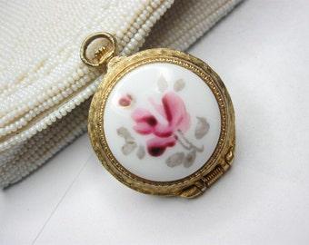 genovit de luxe watch locket porcelain