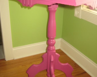 Victorian Hot Pink side table