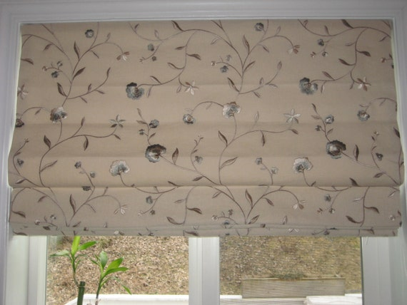 Custom Made To Order Flat Roman Shades (Standard or top down bottom up)