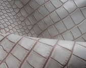Aligator Print .21''x 30 ''/( 52.5 X75 cm)Leather Piece  /Genuine leather