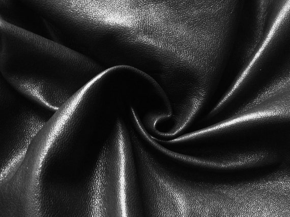 1Piece.Leather Pieces(20''x 22'') /Black Leather.For  Accessories,Decorations,Purses...