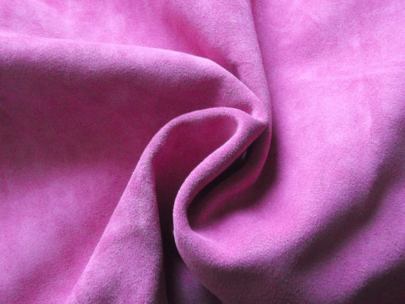Lambskin.20'' x 22 ''/Leather .Pink suede leather.Genuine leather