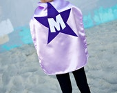 Kids Cape -  Lavender with Dark Purple Star