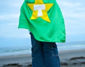 Kids Cape - Green with Yellow Star