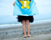 Kids Cape - Light Blue with Yellow Star