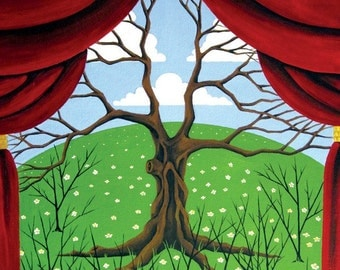 Tree of Life Changing Seasons - Dead Tree - print of original painting