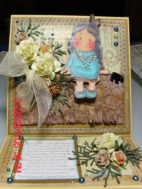Native American Indian Prayers http://www.etsy.com/listing/67862989/native-american-indian-tilda-easel-card