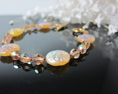 Autumn Gold Bracelet with Swarovski Crystals