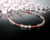 Crystal Whisper Bracelet in Vintage Rose