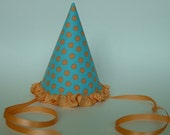 Blue and Orange Party Hat