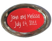 Chalkboard Wedding Tray Oval Red, for your Rustic Wedding, Spring Wedding, Summer Wedding, from Naturally Aspen