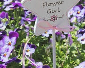 Flower Girl Painted Wand. Flower Girl Gift, for your Rustic Wedding, Summer Wedding, a featured piece from Naturally Aspen