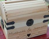 Wedding Card Box Rustic Wooden Card Box Rustic Wedding Card Box Rustic Weddings Advice Box Wishing Well Card Box Wedding Gift NAS