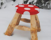 Toddlers Stool -- with toadstool design