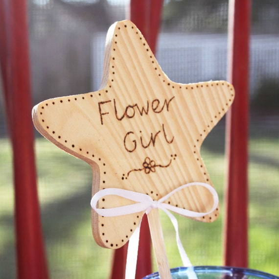 Flower Girl Gift -- Flower Girl Wand