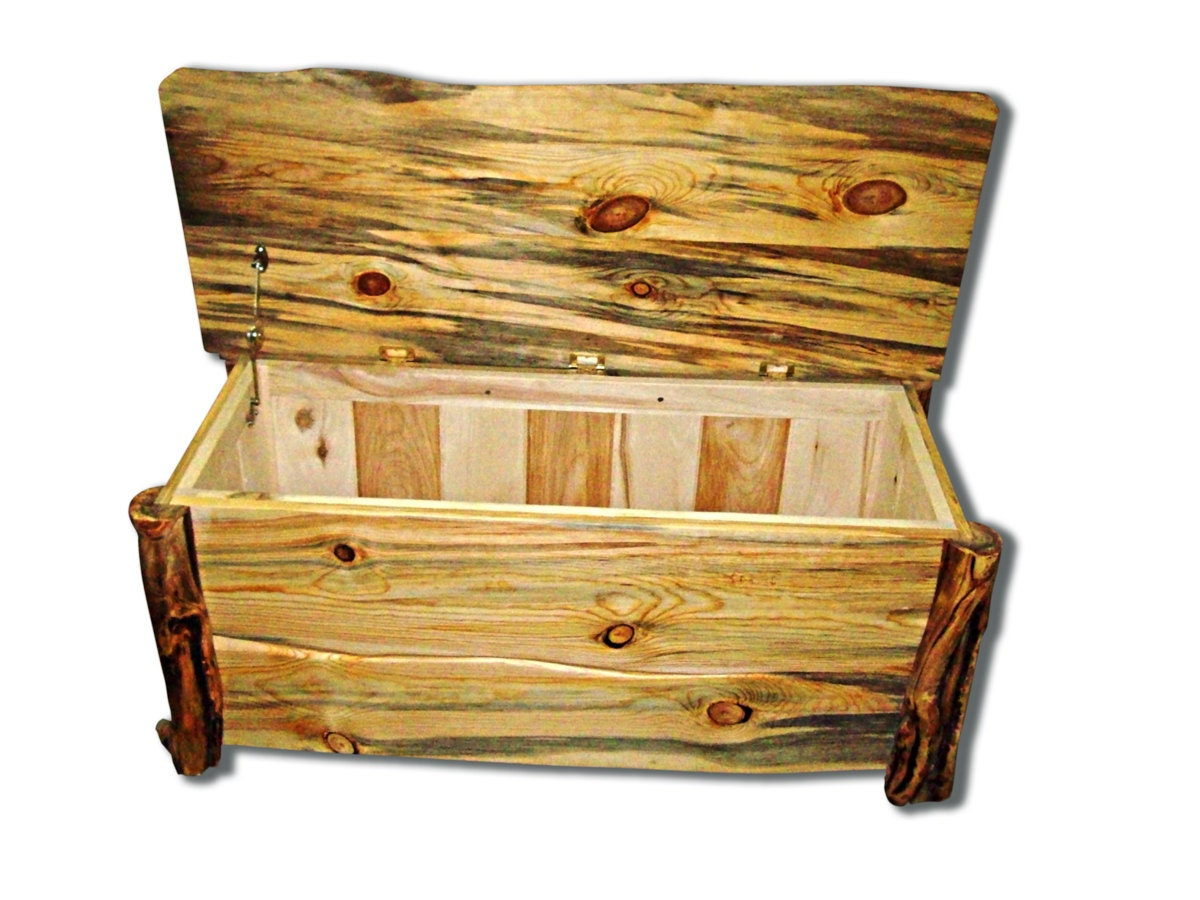 rustic wood chest made sustainably from aspen by naturallyaspen