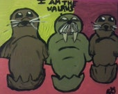 I Am The Walrus 11x14 acrylic painting