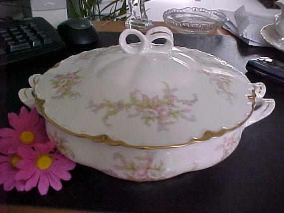 Vintage Warwick China Avon Rose Covered Vegetable Bowl Circa
